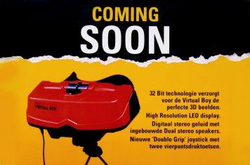 Nintendo Virtual Boy spelcomputer met 3D bril