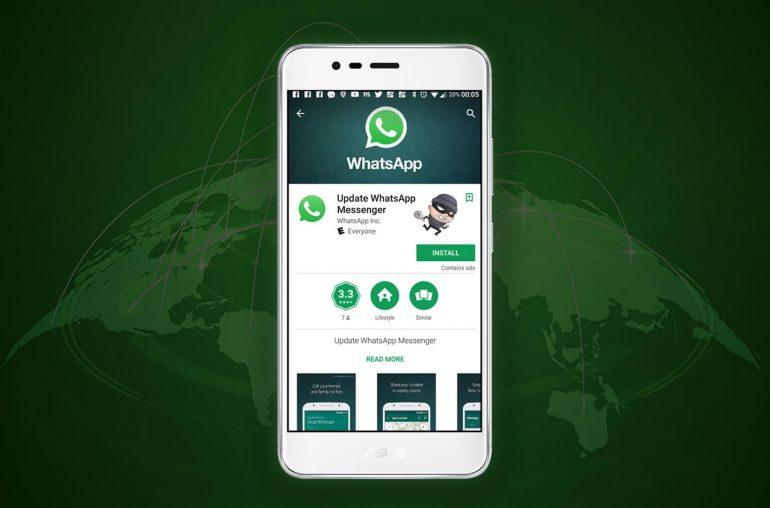 Google WhatsApp nep versie