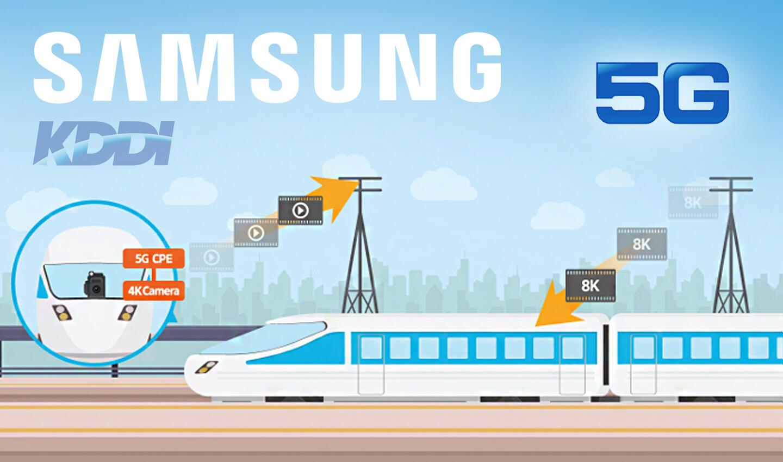 Samsung test 5G snelheid met 8k video download in trein
