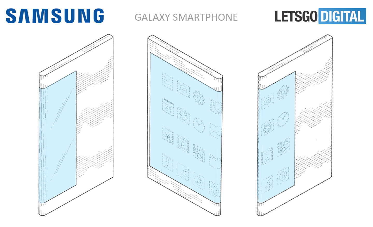 Samsung patent reveals smartphone with wraparound display