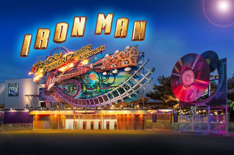 Disneyland Roller Coaster Iron Man