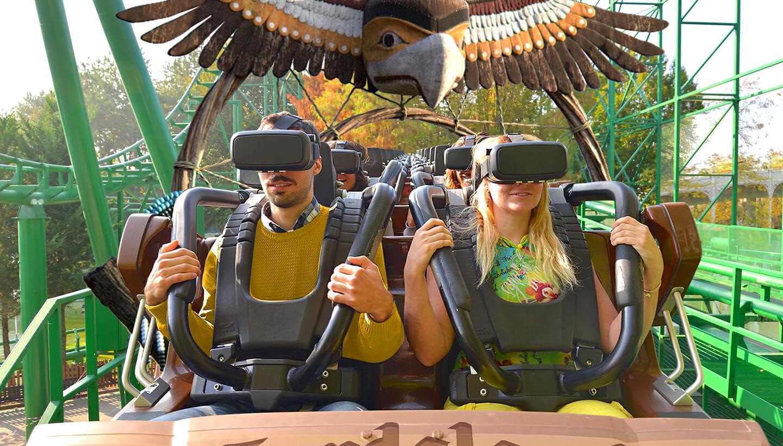 Achtbaan met VR