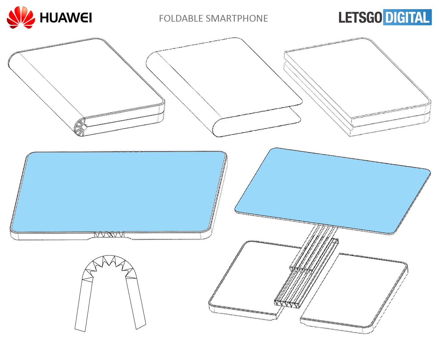 Huawei smartphone flexibel display