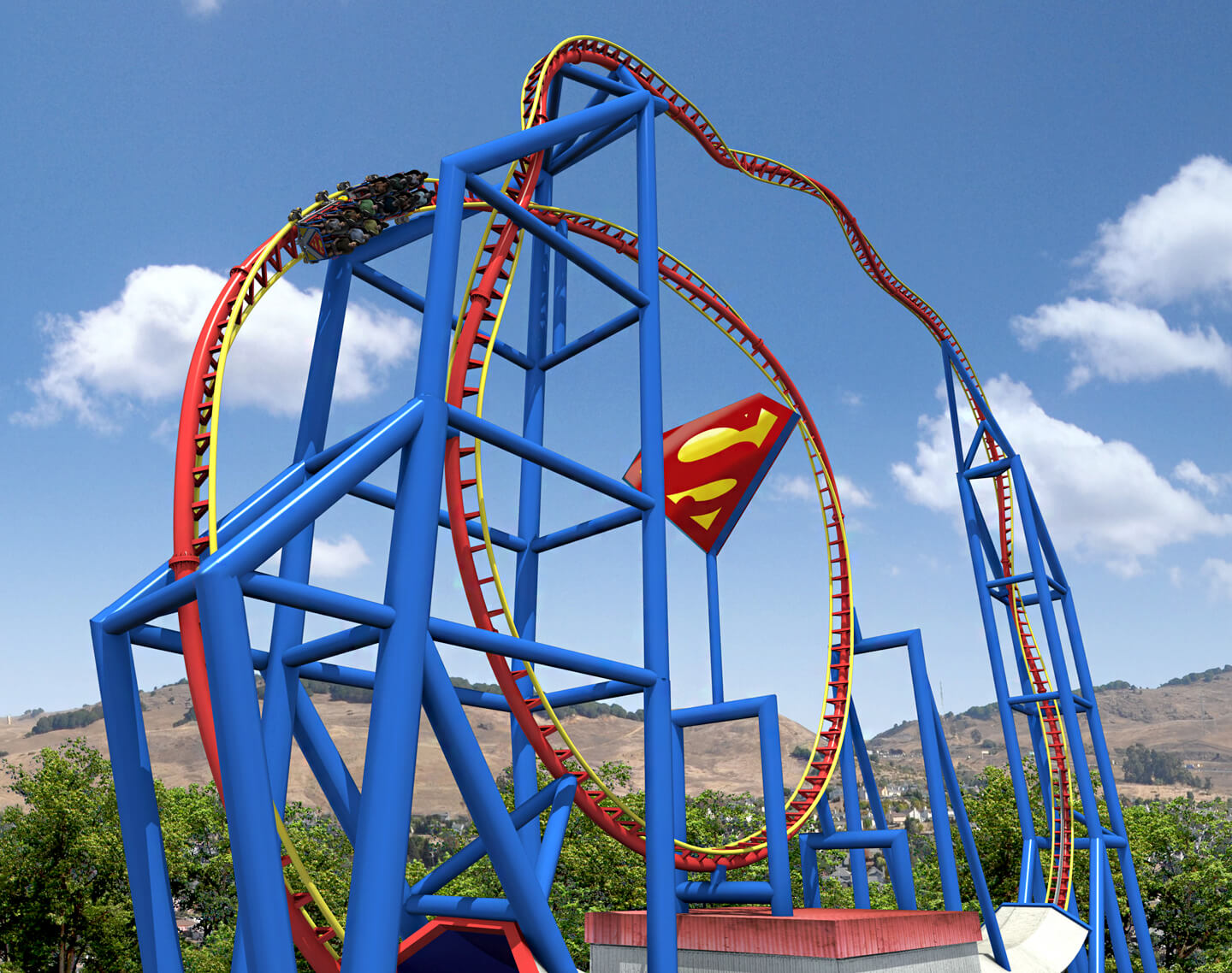 Six Flags Superman achtbaan