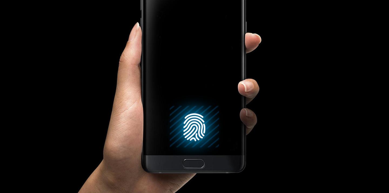 Smartphone met vingerafdrukscanner