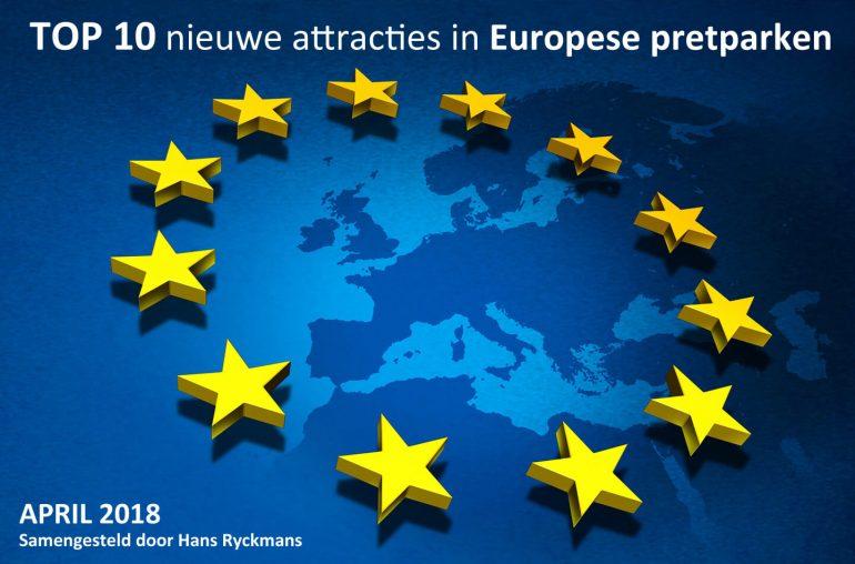 Nieuwe attracties Europese pretparken