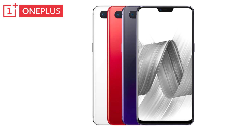 OnePlus smartphone met notch