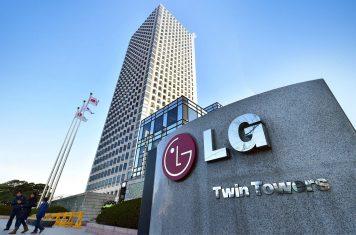 Opvouwbare LG smartphone