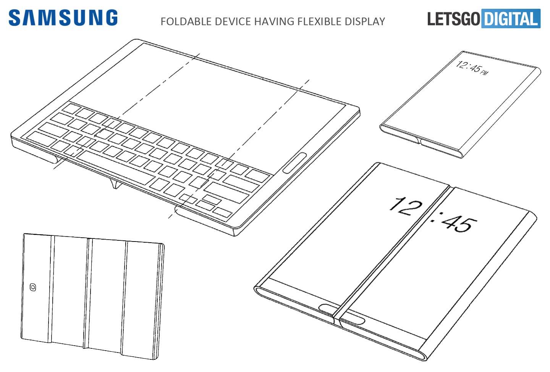 Samsung opvouwbare tablet
