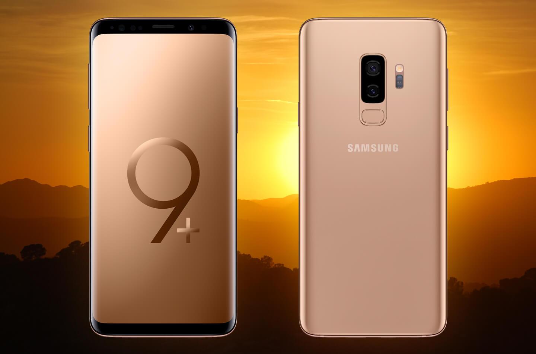 Galaxy S9 Sunrise Gold