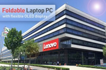 Lenovo opvouwbare laptop met flexibel OLED display