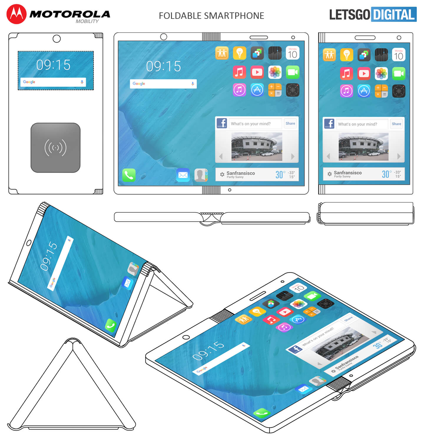 Motorola files patent for a foldable smartphone that unfolds into a tablet