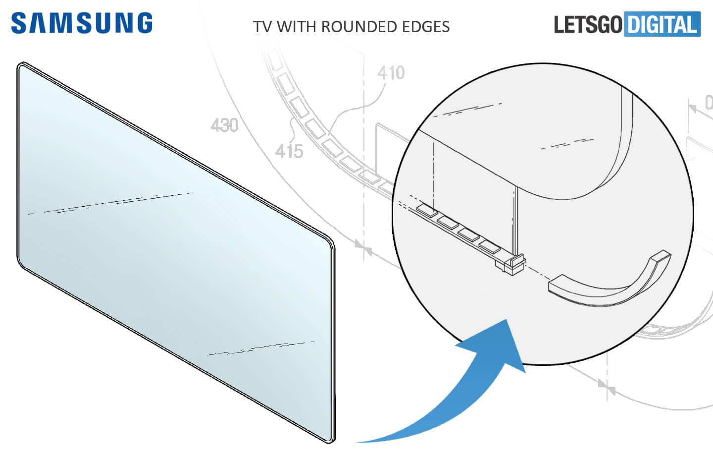 Samsung TV met afgeronde hoeken