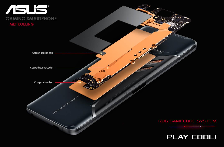 Gaming smartphone met koeling