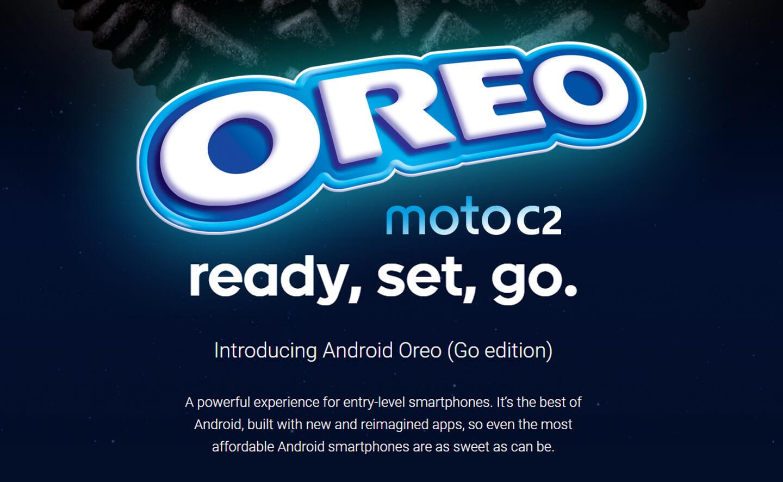 Motorola Android Go smartphone