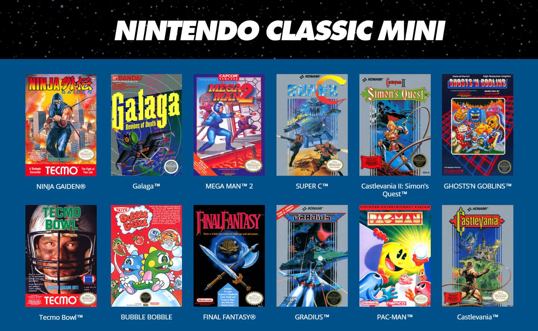 NES Classic mini games