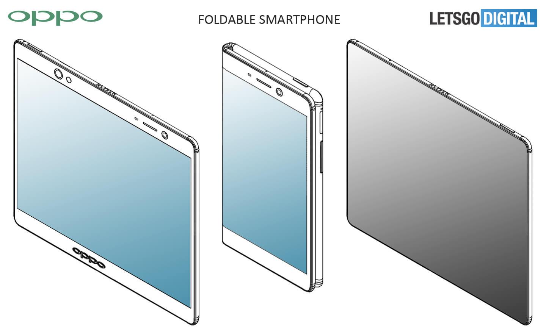 Opvouwbare Oppo smartphone