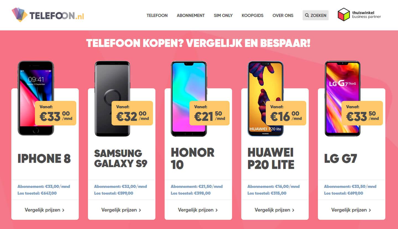 Smartphone kopen met abonnement