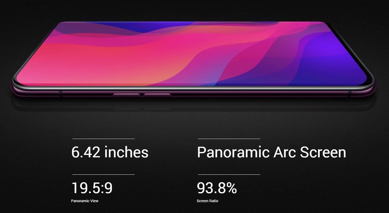 Smartphone met randloos scherm