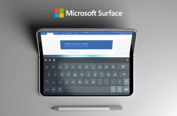 Opvouwbare Microsoft Surface tablet