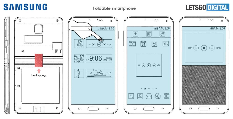 Opvouwbare Samsung Galaxy smartphone