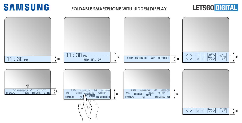 Smartphone met verborgen display