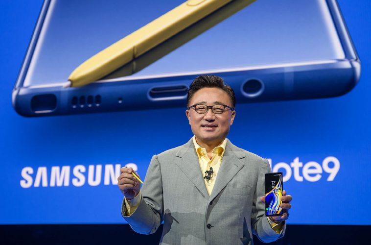 Samsung Galaxy Note 9 smartphone