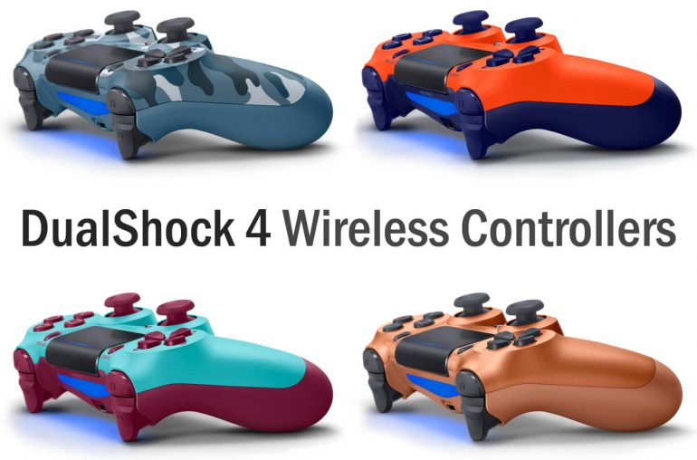 Sony DualShock 4 controllers