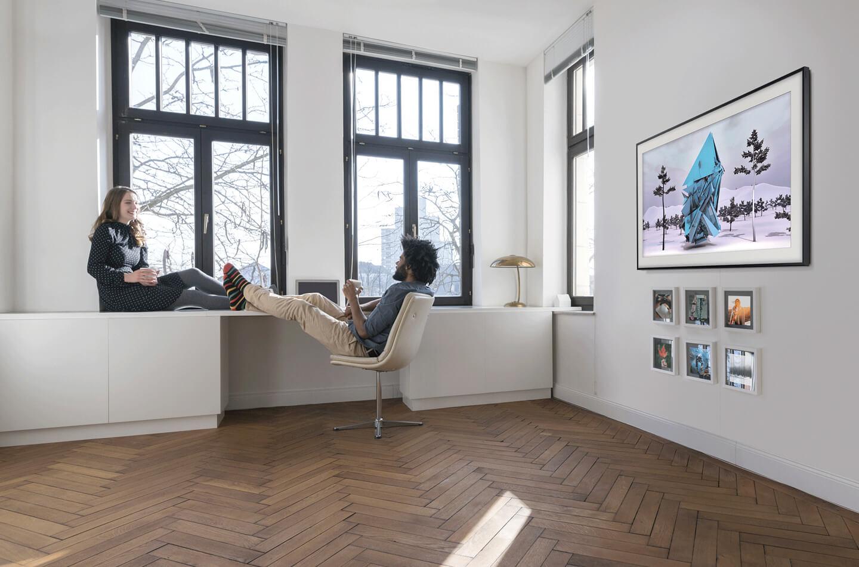 Groot televisiescherm