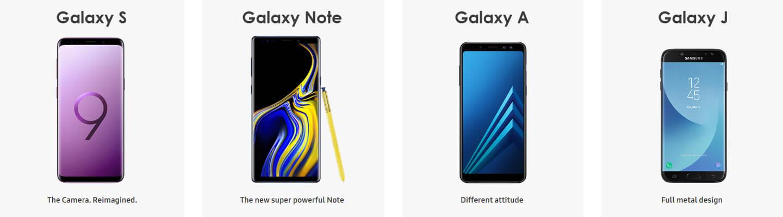 Samsung Galaxy 2018 smartphones