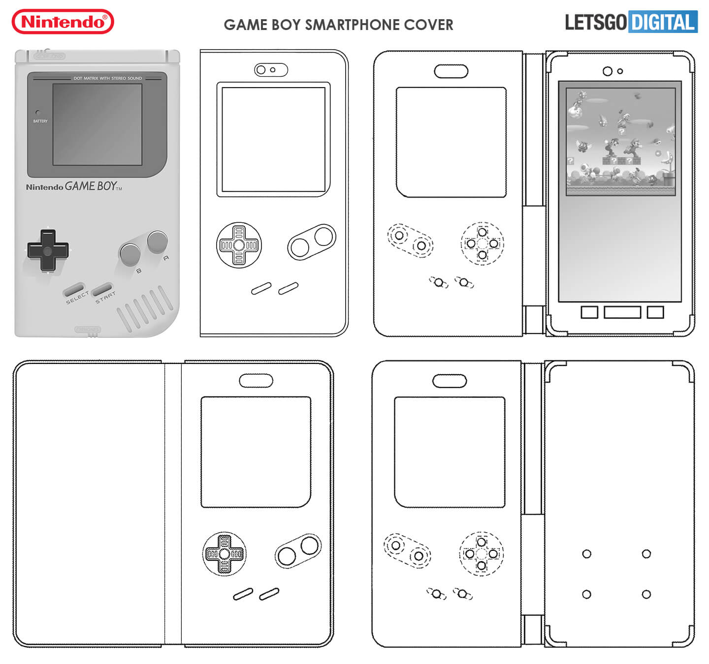 Nintendo Game Boy smartphone cover