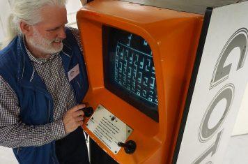 Retro arcadekast museum
