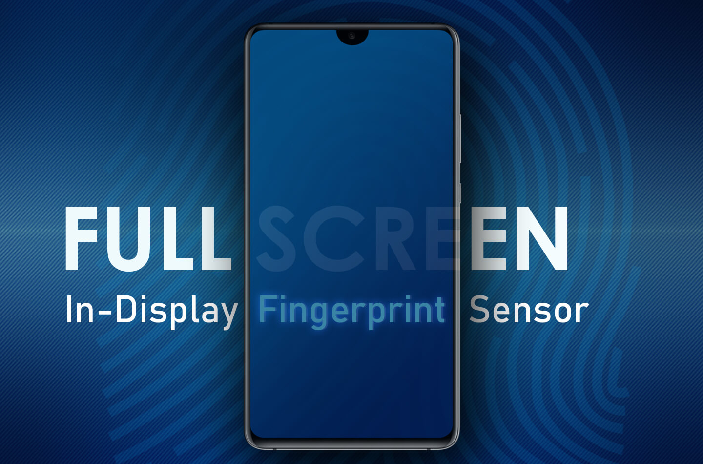 Samsung full-screen in-display vingerafdrukscanner