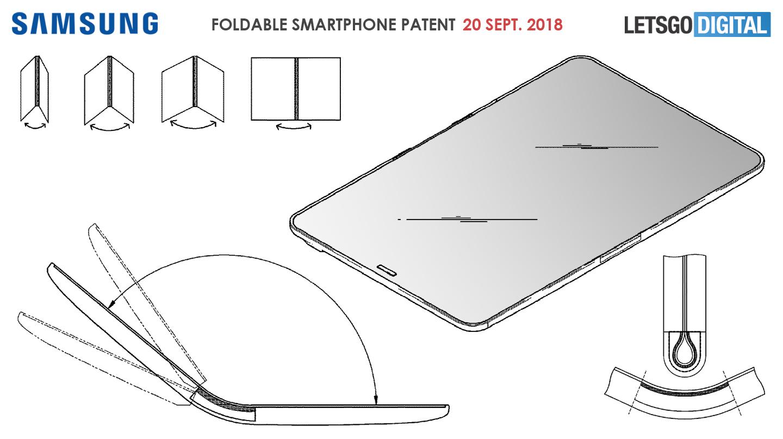Samsung opvouwbare smartphone tablet