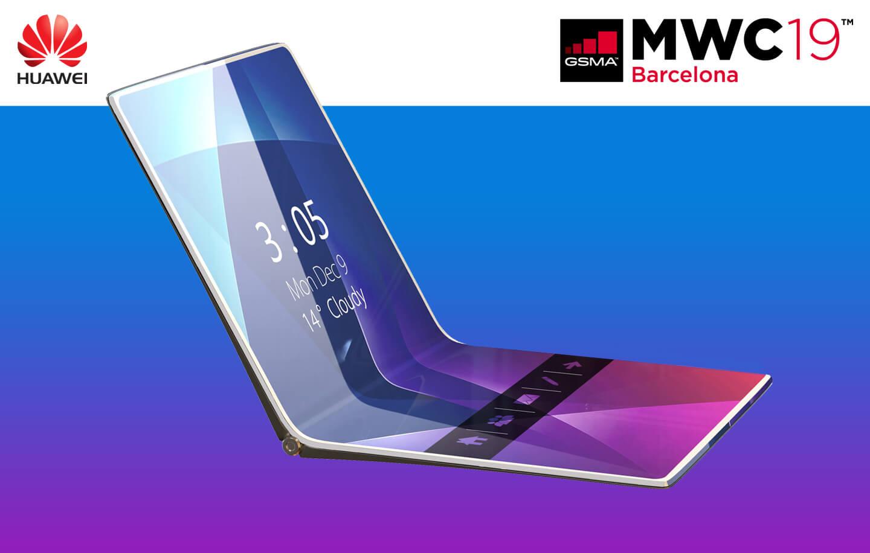 Opvouwbare Huawei smartphone