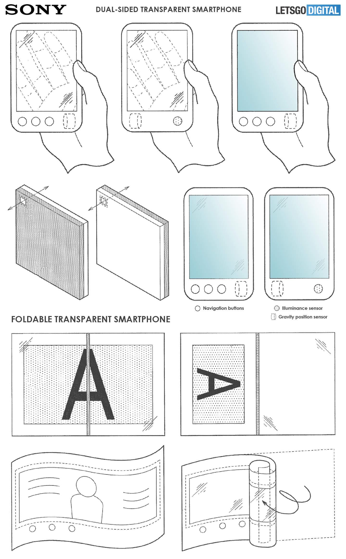 Opvouwbare Sony smartphone