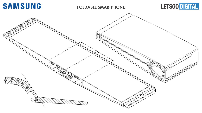 Samsung clamshell telefoon opvouwbaar display