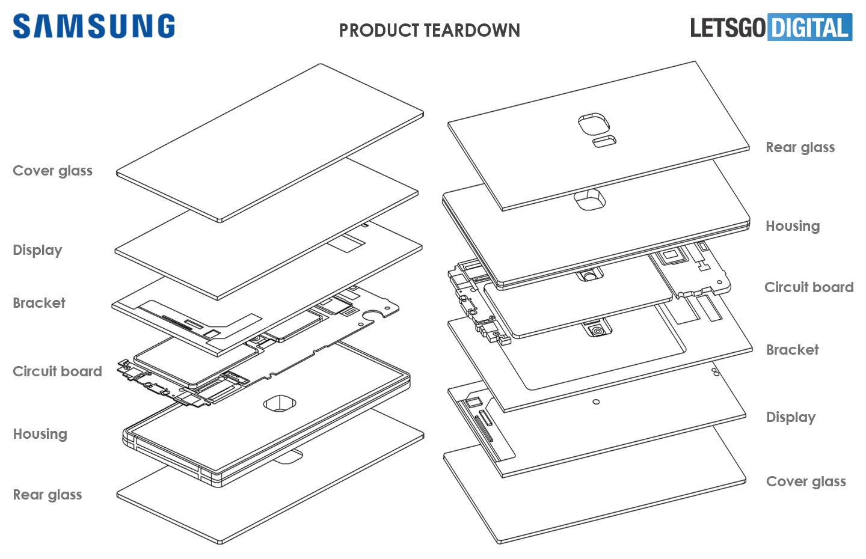 Samsung smartphone met sensoren onder display