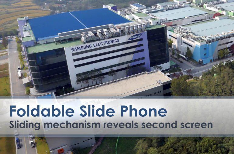 Samsung uitschuifbare opvouwbare smartphone