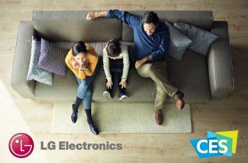 LG TV met speakers die zich aanpassen aan beeldverhouding