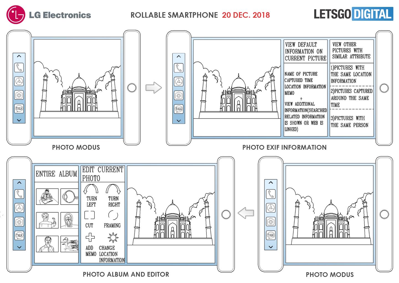 Oprolbare LG smartphone