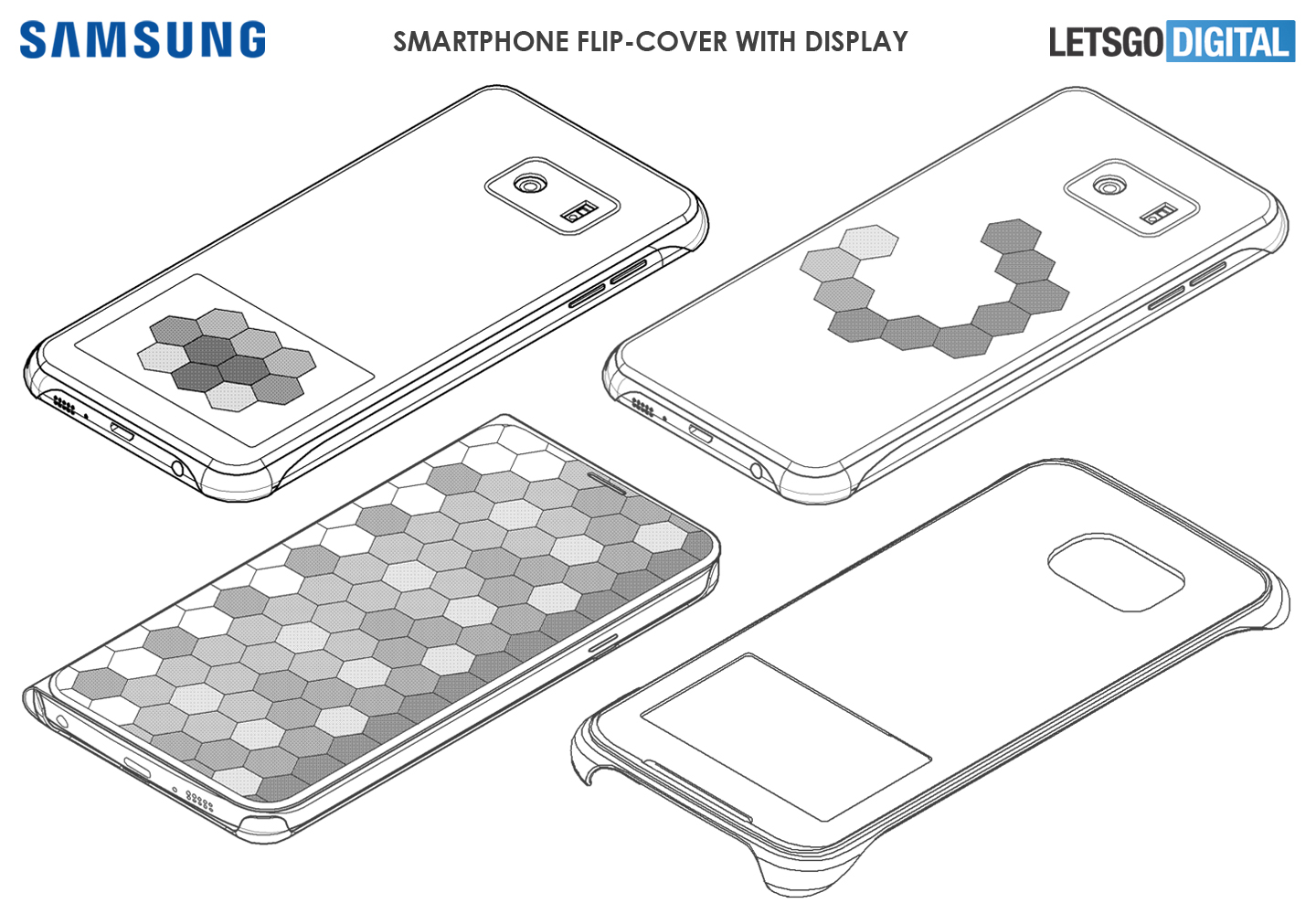 Samsung smartphone cover met display