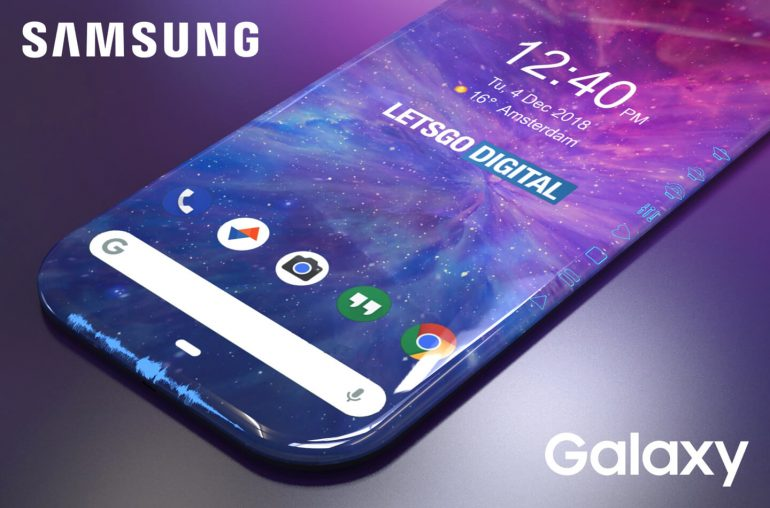 Samsung smartphone randloos display