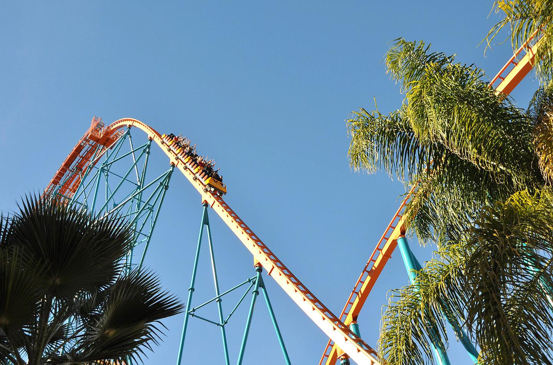 Snelle achtbaan Six Flags