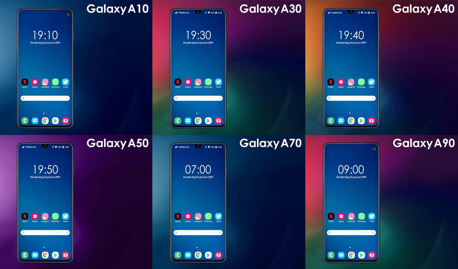 Galaxy smartphones 2019