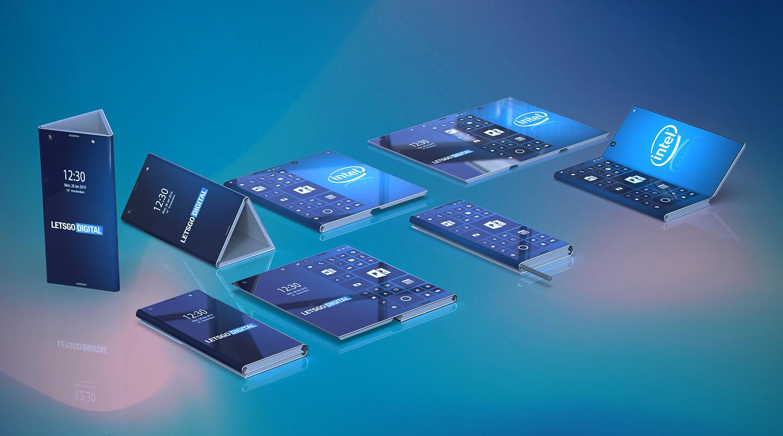 Smartphone dobrável da Intel