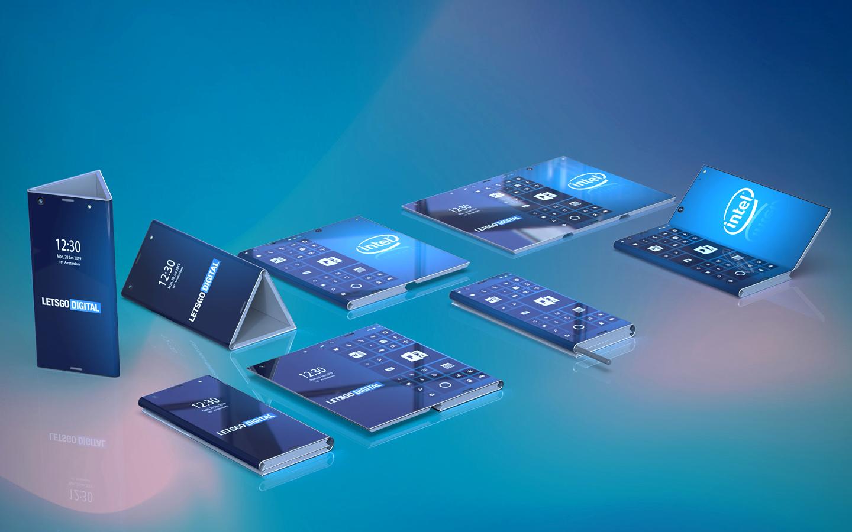 Intel opvouwbare smartphone