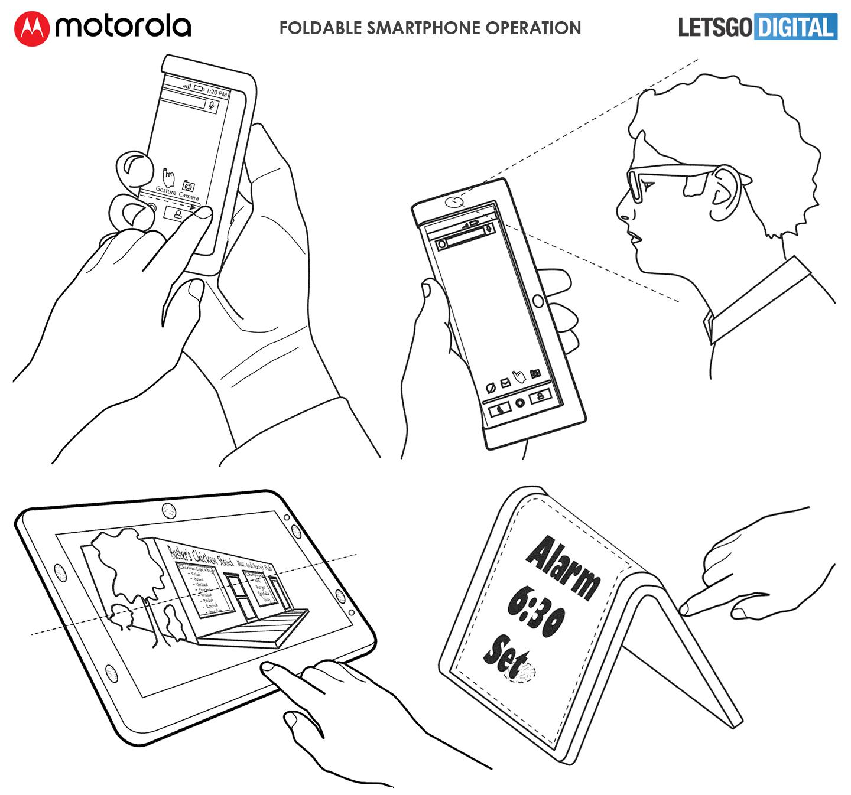Opvouwbare Motorola smartphone