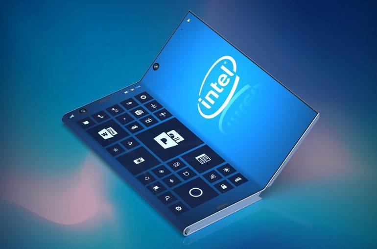 Opvouwbare smartphone Intel