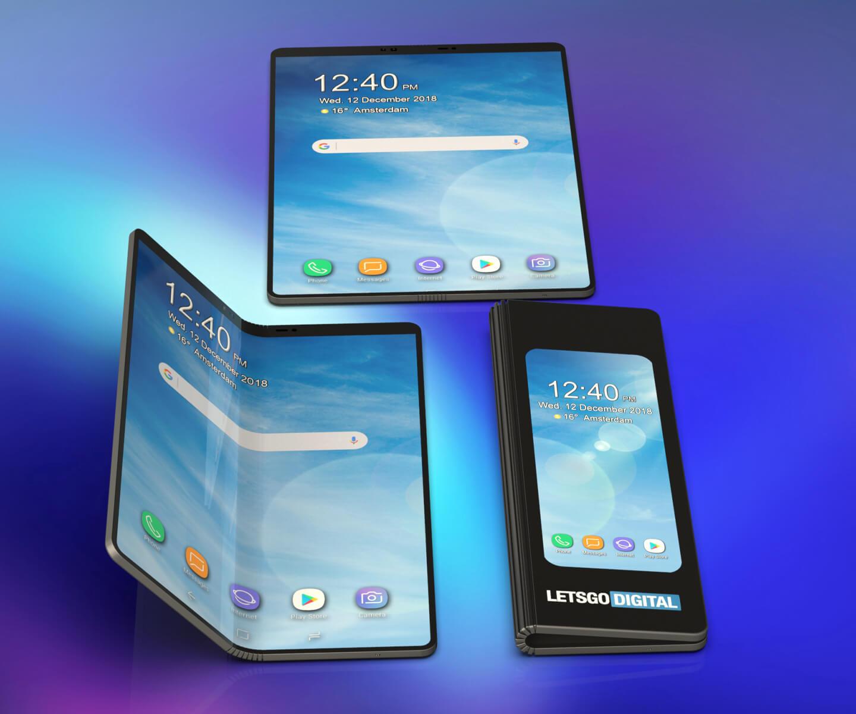 Opvouwbare smartphone met dubbele batterij